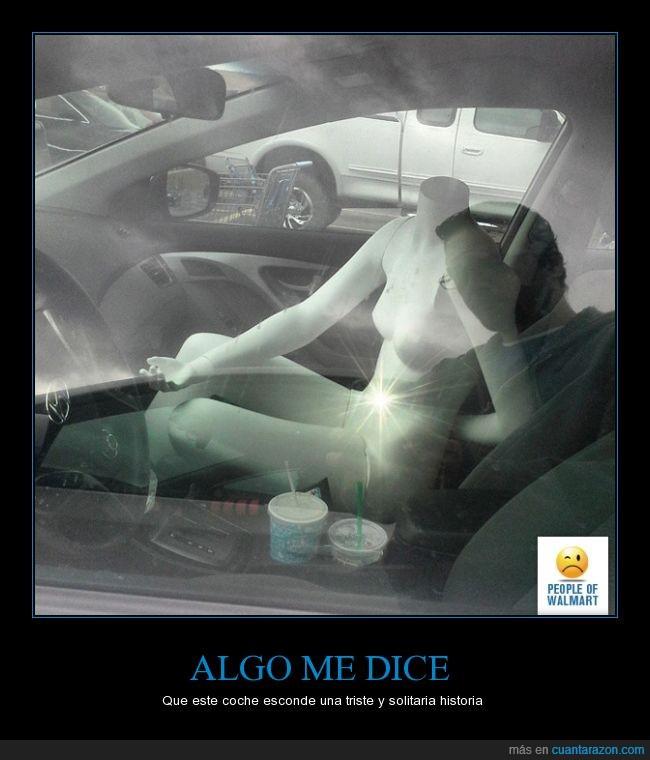 aparcamiento,asqueroso,coche,esa mano,foto,Maniquí,Manuela,sin ropa,solitario,solo,supermercado,triste