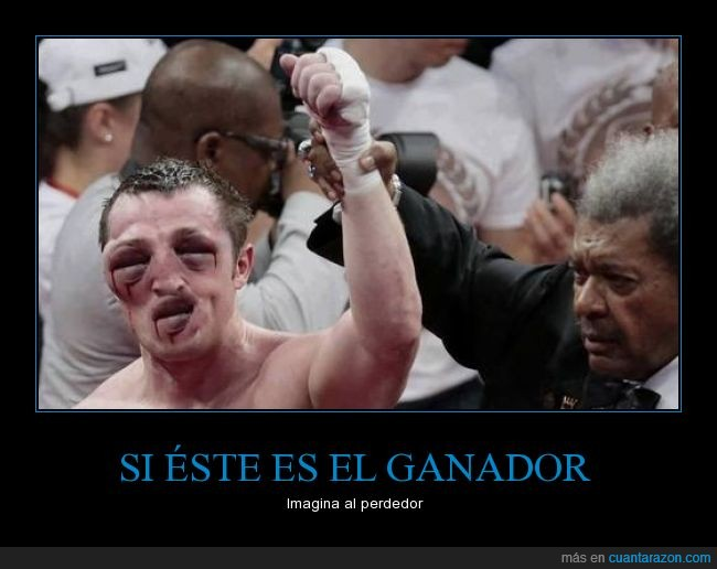 boxeador,ganador,golpes,hinchado,inflado,inflamación,los ojos son su boca,montaje,ojos,pelea,perdedor