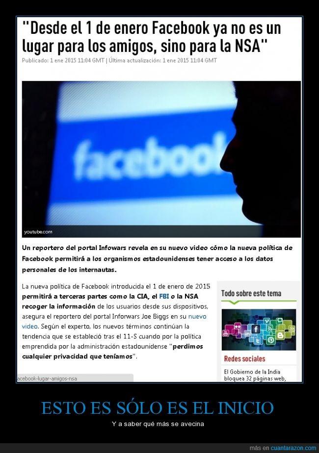 amigos,cia,facebook,fbi,información,nsa,sin privacidad