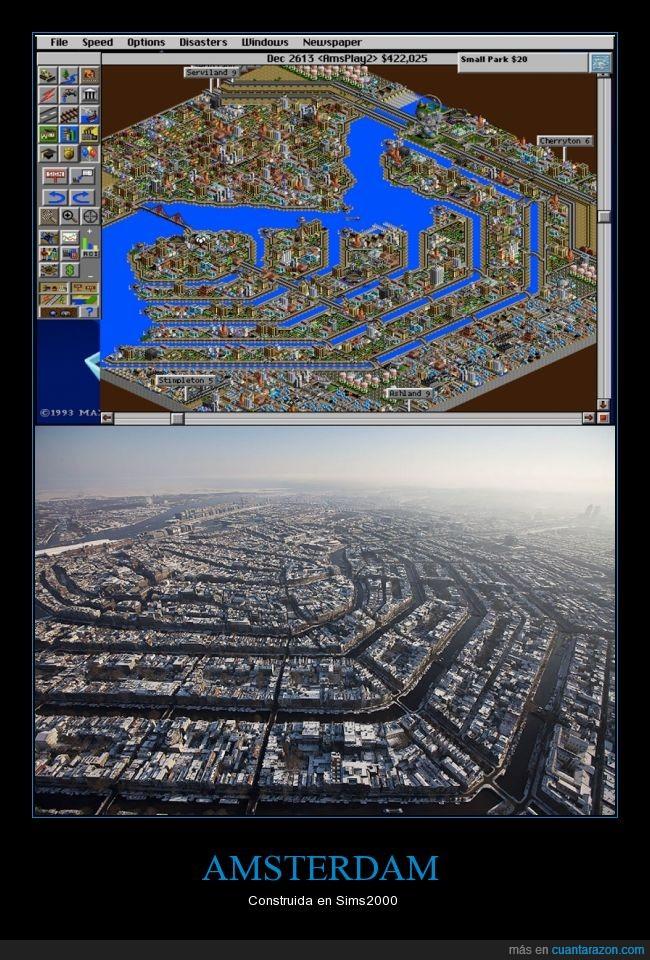 amsterdam,reproducir,Sims,Sims City,simscity 2000