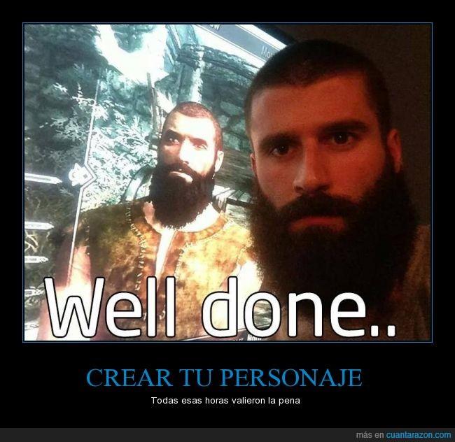 barba,clavado,FUS RO DAH,Idéntico,igual,personaje,rpg,Skyrim,TES