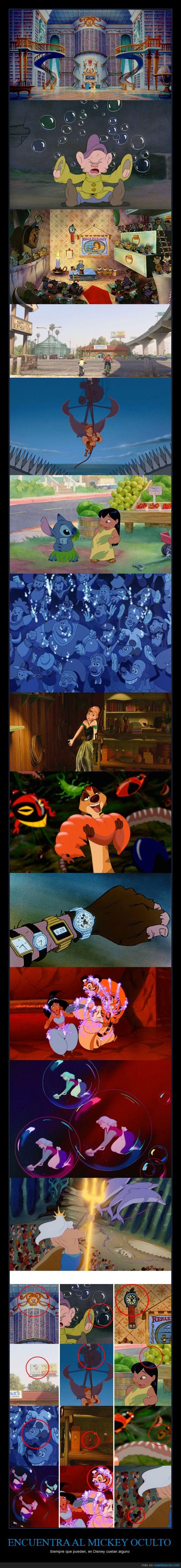 Aladdin,Cenicienta,Disney,El Rey león,forma,guiño,La Sirenita,Mickey,orejas,película,sutil,Wreck it Ralph