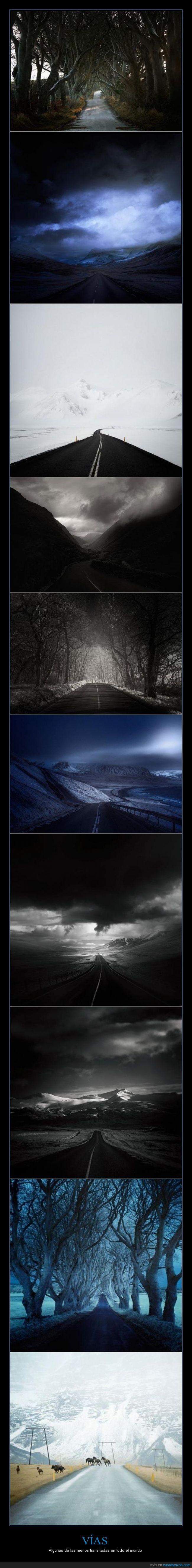 Andy Lee,carreteras,cielos cambiantes,menos transitadas,paisajes idílicos,Roads