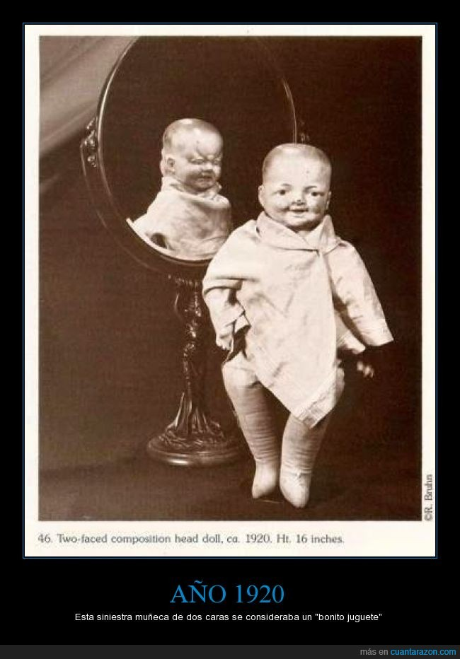 cabeza,cara,dos,Edward Monrake,espejo,juguete,macabro,miedo,muñeca,terror