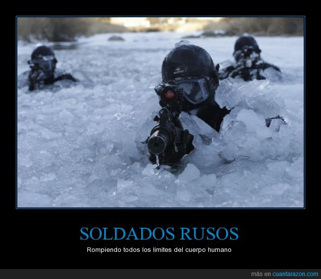camuflaje,fuerzas especiales,helado,hielo,lago,rusos,soldados