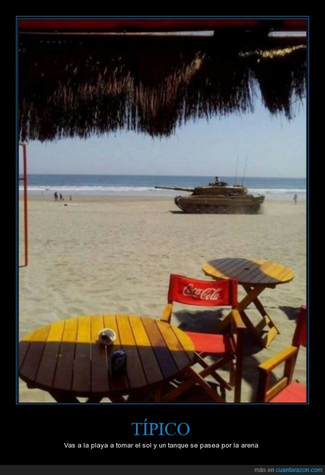 arena,inusual,playa,tanque
