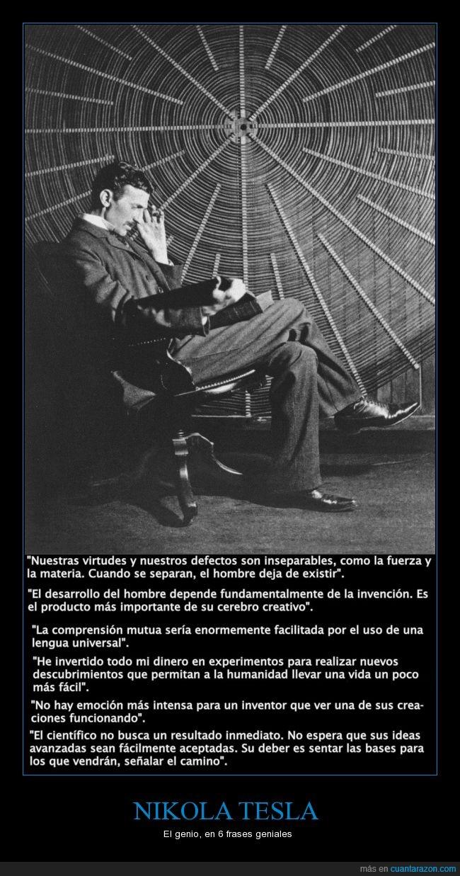 frases geniales,genio,homenaje,inventor prolífico,Tesla,visionario creador