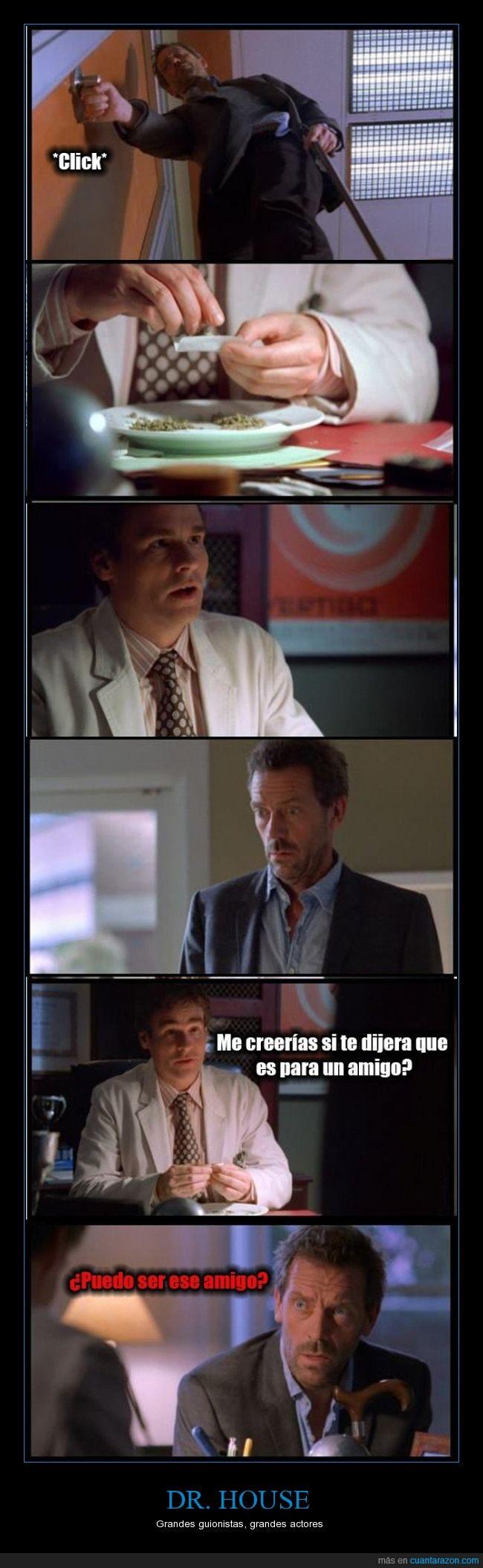 amigo,Dr. House,fumar,guardar,House,liar,puedo,ser,Wilson
