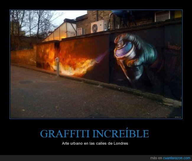calle,fuego,graffiti,londres,spray