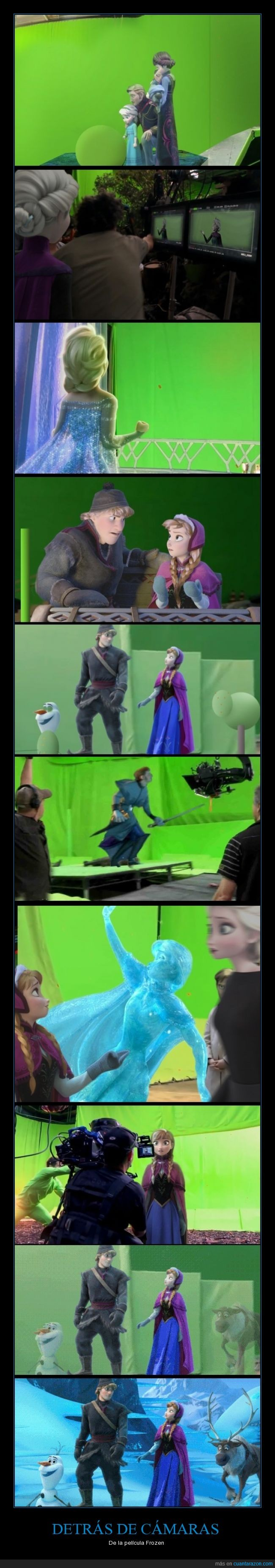 Anna,chroma,croma,delante,Disney,efectos especiales,Elsa,frozen,obviamente es una parodia