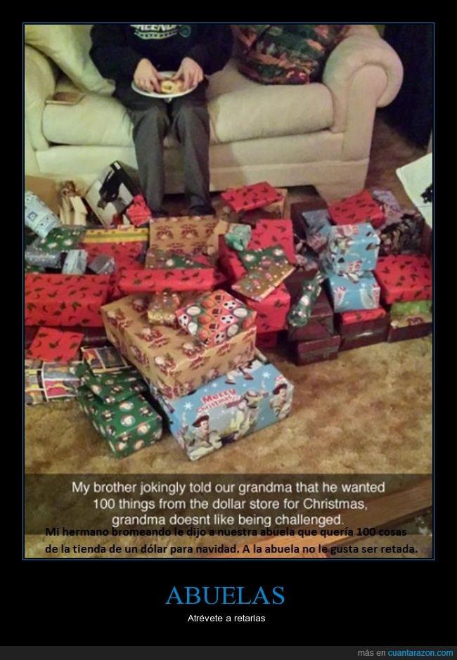 abuelas,barato,dinero,Navidad,regalos,reto,un dolar