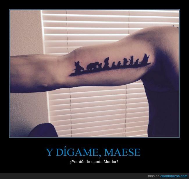 aventura,buen tatuaje,el señor de los anillos,gandalf y sus parceros,la compañía del anillo,tattoo,tatuaje,tlotr