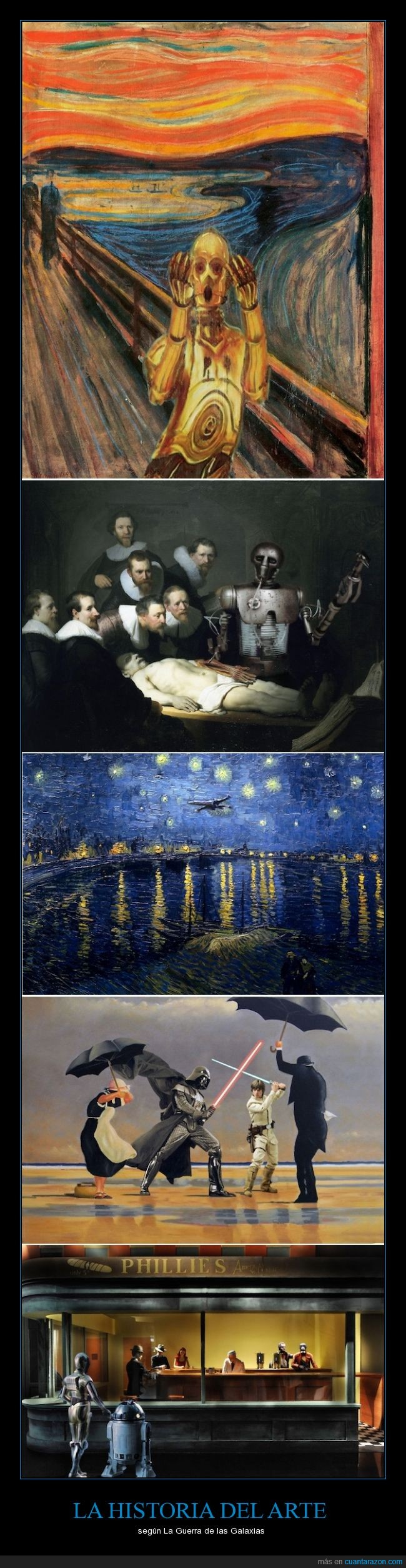 arte,cuadro,Hopper,mashup,Munch,Rembrandt,sar wars,Van Gogh,Warho,Wintersixfour