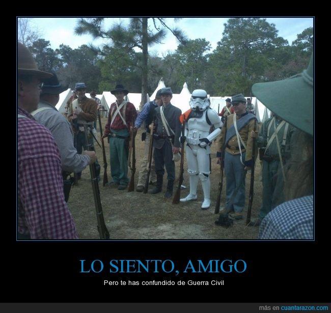 Estados Unidos,guerra civil,recreacion,star wars,Stormtrooper
