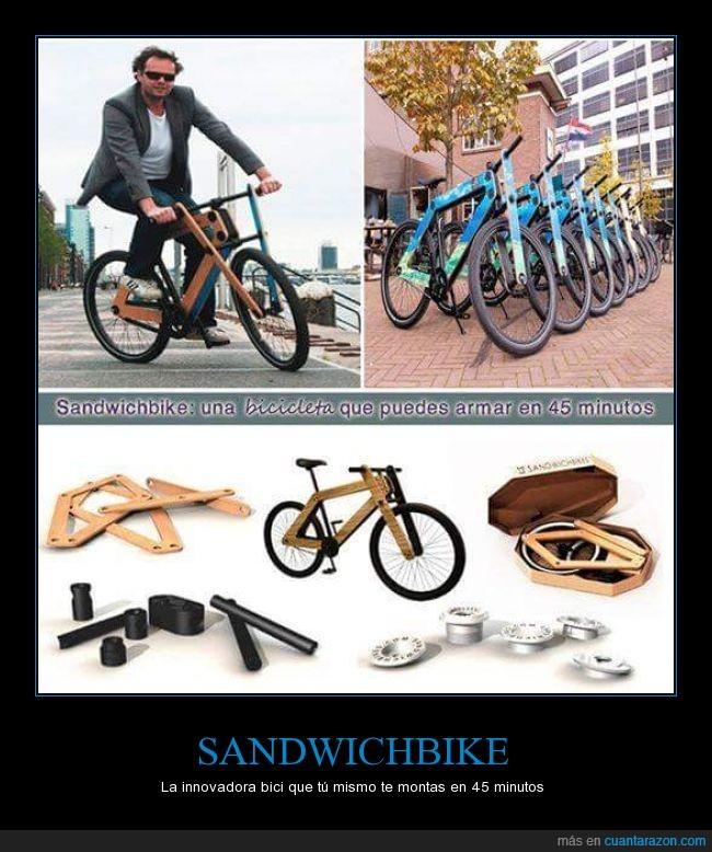 armar,bicicleta,caja,dentro,montar,portatil,sandwichbike