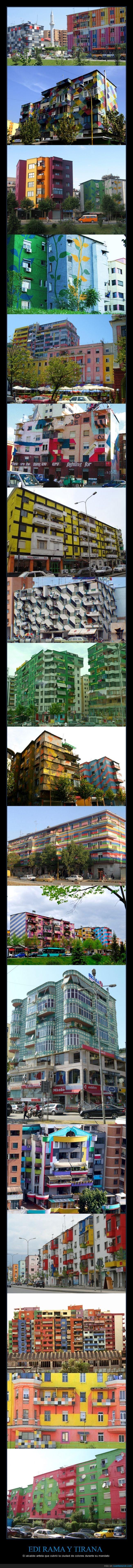 2000-2011,Albania,Alcalde,Arte,Artista,Ciudad,Civismo,Colores,Edi Rama,Edificios,Europa,Proyecto,Tirana