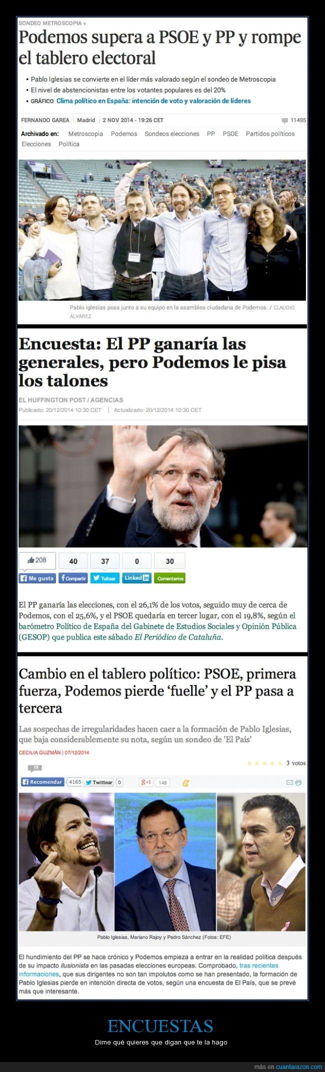 comienza el circo preelectoral,elecciones,encuesta,estadística,podemos,política,pp,psoe