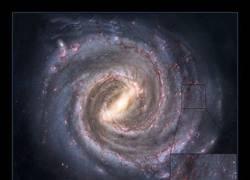 Enlace a La bolita azul es nuestra extensión incluyendo la radio en la Vía Láctea