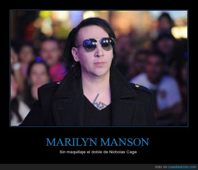 Doble,Maquillaje,Marilyn Manson,Nicholas Cage