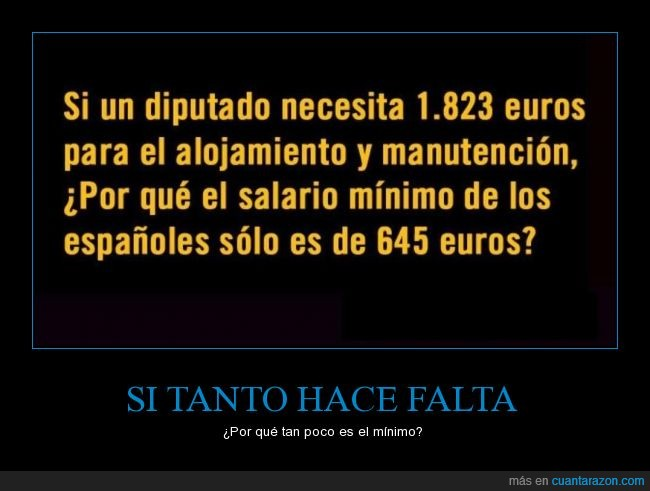 alojamiento,bajo,crisis,euros,manutencion,minimo,necesita,pagar,salario,smi,sueldo,suelto,verguenza