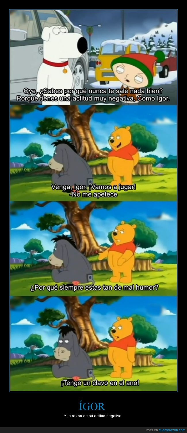 actitud,family guy,igor,mal humor,negativo,satira,winnie poh