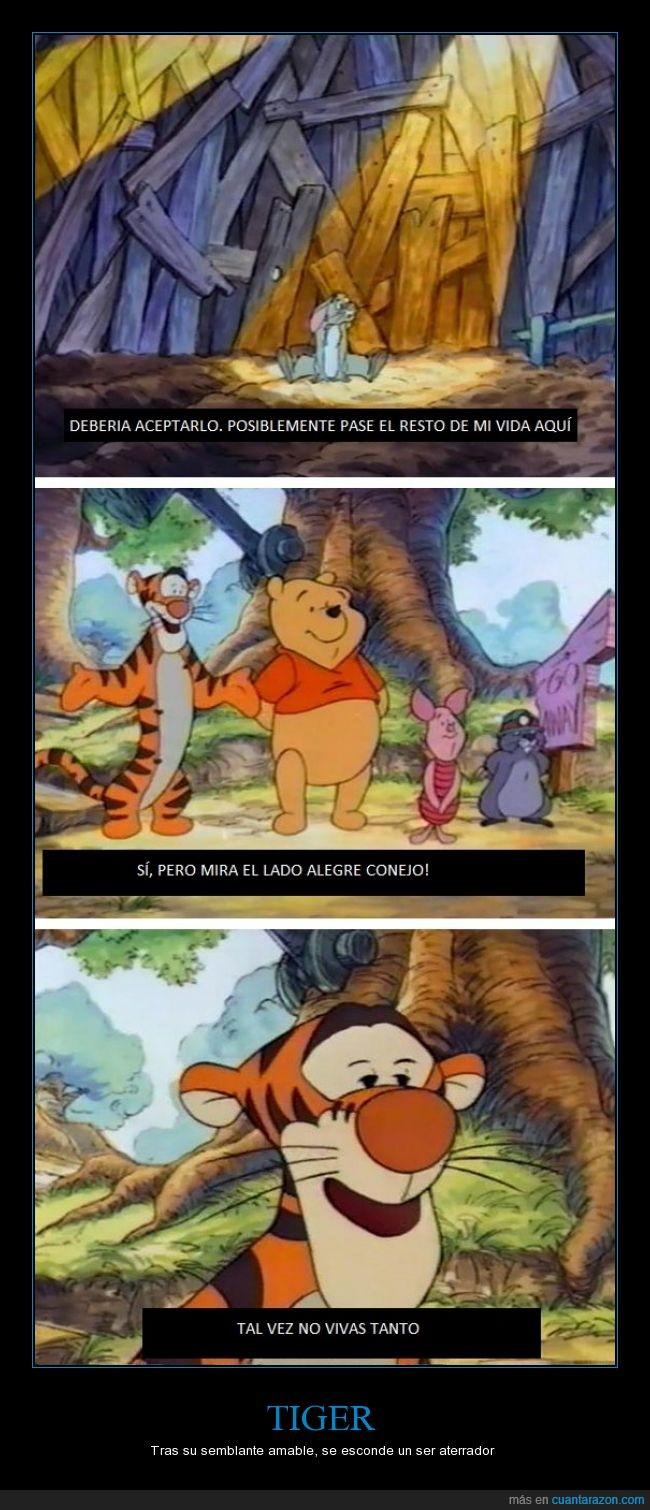 aterrador,conejo,lo traduje alegre? quise decir positivo ups,poo,tiger