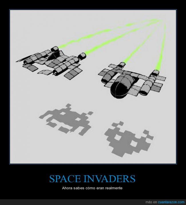 diseño,forma,motivo,nave,razon,space invaders,videojuegos