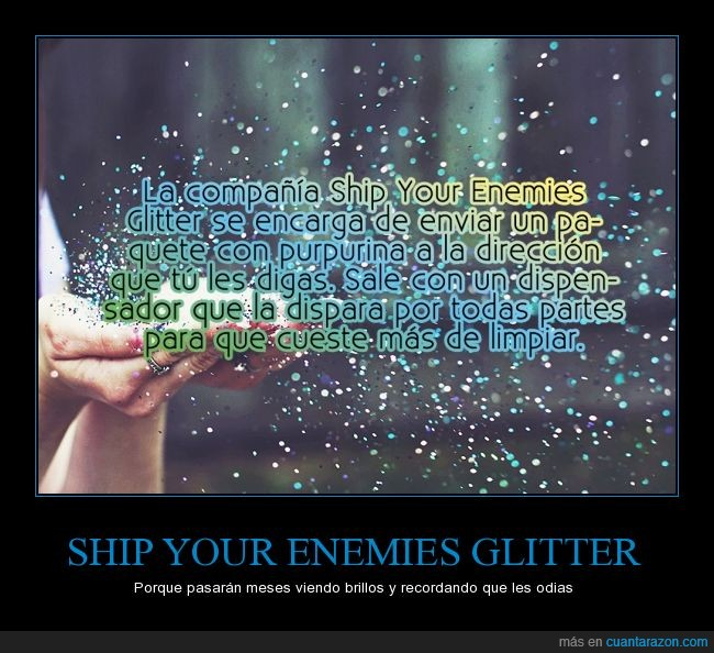 enviar,limpiar,paquete,purpurina,ship your enemies glitter