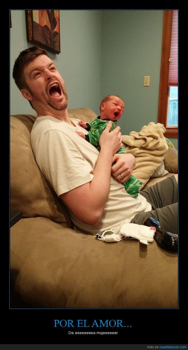 bebe,boca,cantar,clavado,expresión,genetica,hijo,igual,madre,niño,padre
