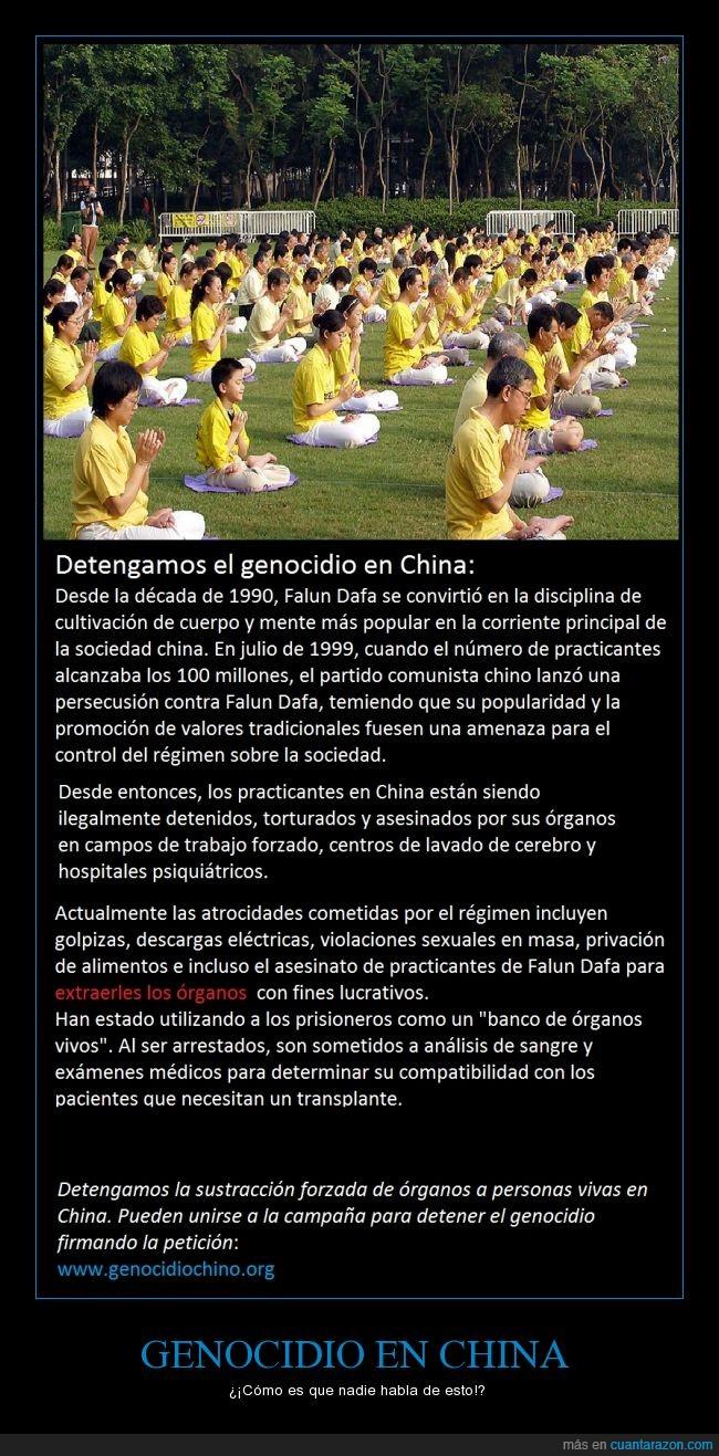 Barbaridad,China,Comunismo,Falun Dafa,Falun Gong,Genocidio,órganos