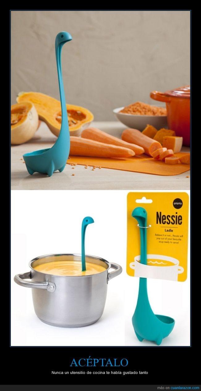 cocina,creatividad,cucharón,decoración,monstruo del lago Ness,Nessie