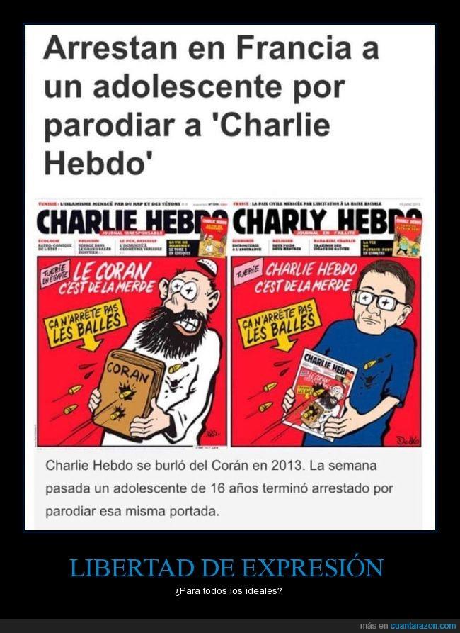 adolescente,arrestan,arrestar,burla,carcel,Charlie Hebdo,chico,crio,detenido,francia,libertad de expresión,niño,parodia