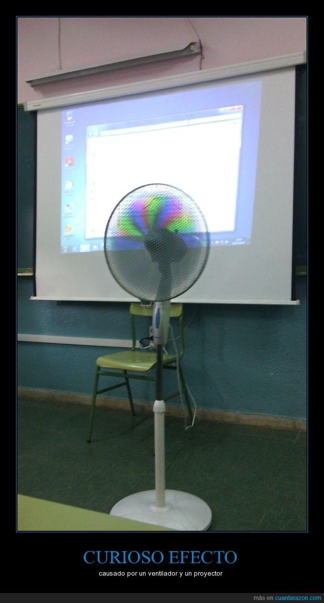 es un poco cutre,pero está bonico el efecto,proyector,ventilador