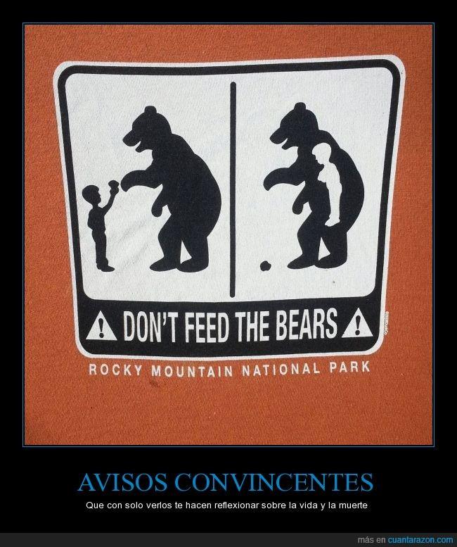 ataques,aviso,cartel,oso,parque nacional,plantigrados,Rocky Moutnain