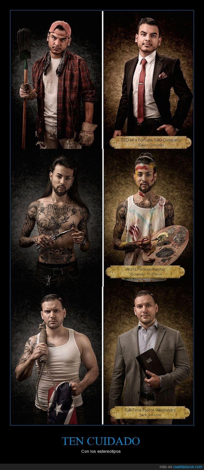 artista,cuidado,cuidar,Estereotipos,imagen,jefe,misionero,persona,prejuicio,ropa,salvar,tatuaje