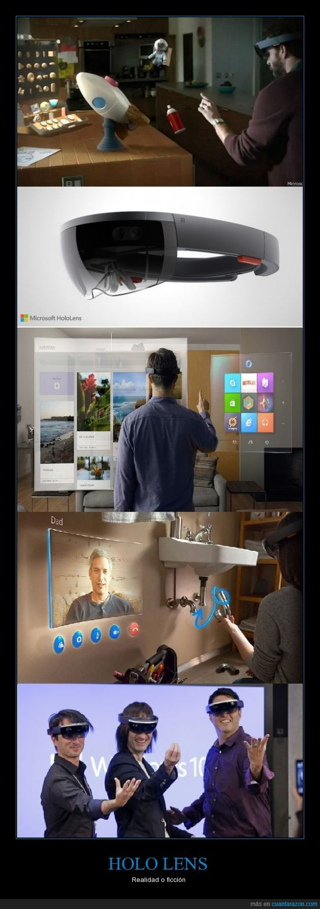 ficcion,futuro,Hologramas,lentes,Microsoft,realidad