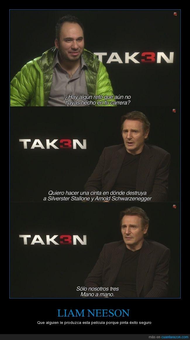 Liam Neeson,lucha,mano a mano,pelea,pelicula,Schwarzenegger,Stallone