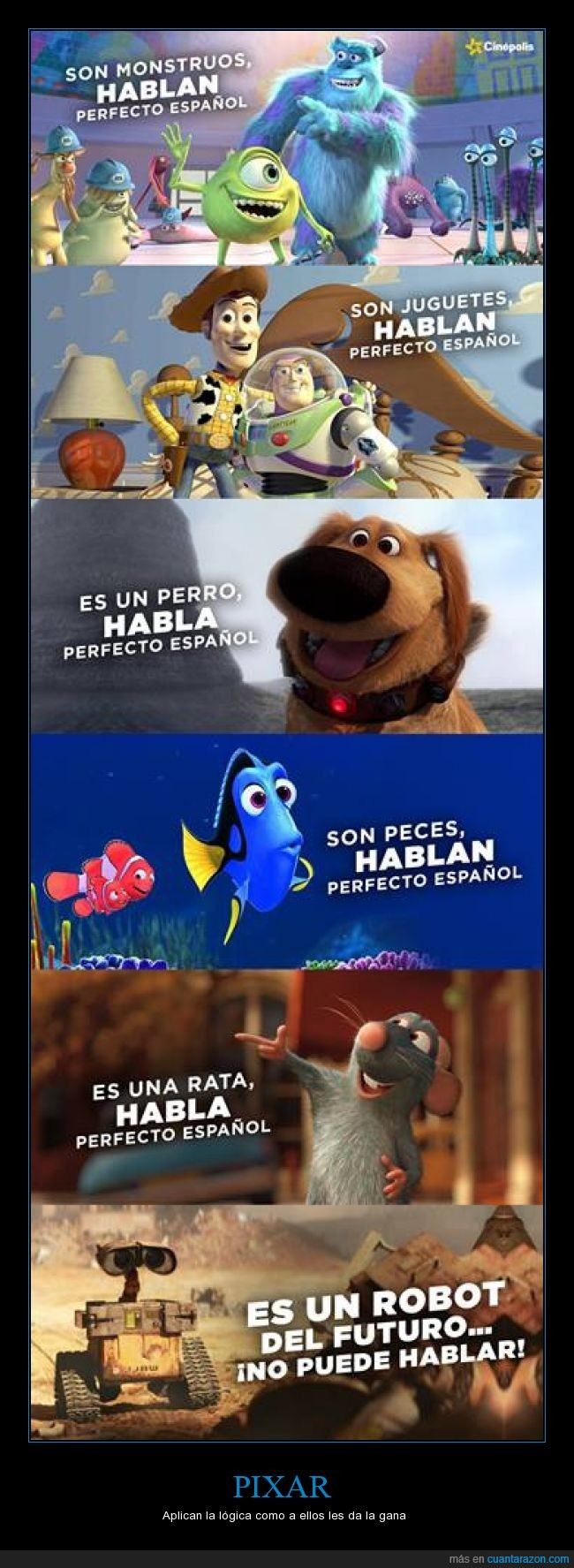 batman,cartel,finding nemo,futuro,hablar,nemo,pixar,ratatouille,robot,toy story,wall-e,woody,ya se que hablan inglés