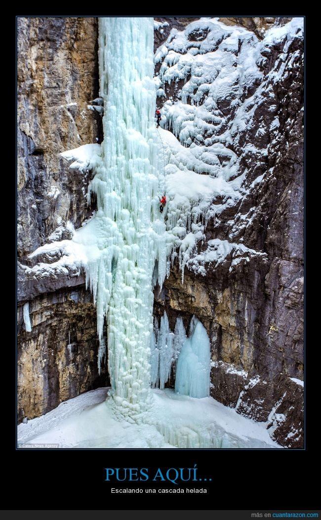 cascada,deporte de riesgo,escalada,frio,hielo,montaña,nieve,¿imposible?