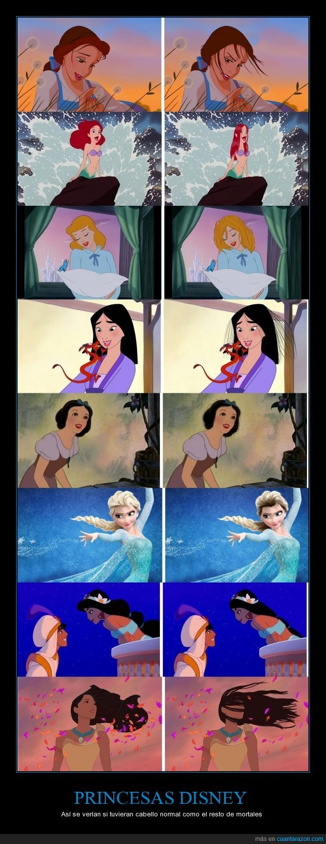 bella,Blancanieves,cabello,disney,mojado,pelo,princesas,real,sirenita