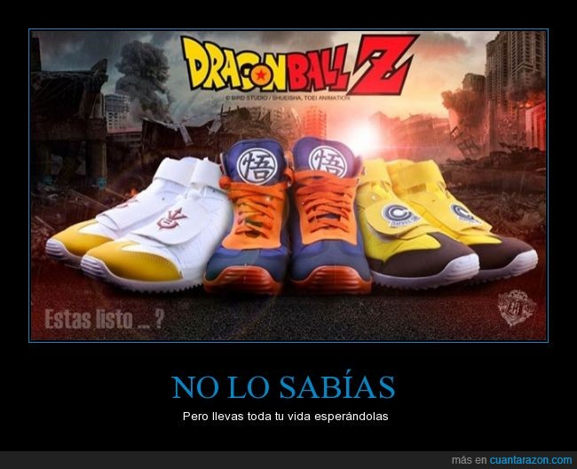 bambas,Bola de Dragon,DBZ,deportivas,Dragon Ball,tenis,zapatillas