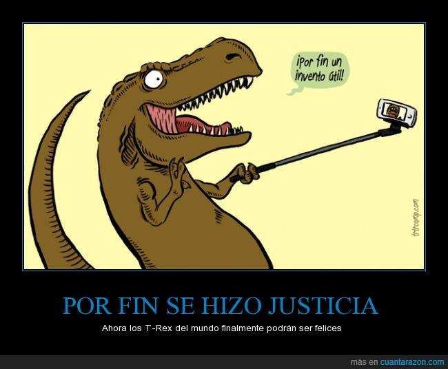 brazo,comodo,corto,dinosaurio,feliz,foto,palo,selfie,t rex,t-rex,trex