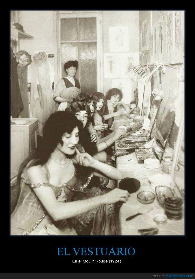 bailarina,camerino,maquillaje,Moulin rouge,vestuario