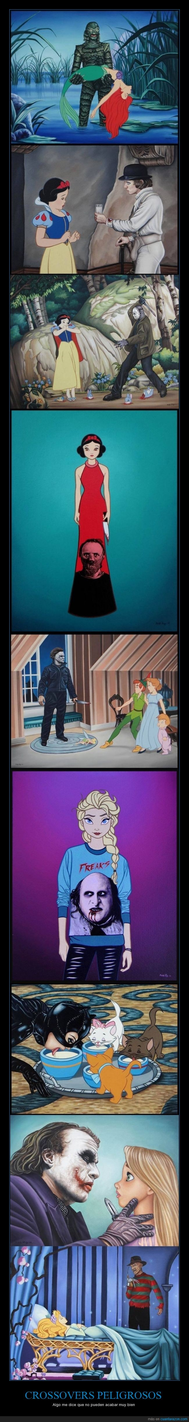 Catwoman,Cenicienta,Disney,Elsa,Famosos,Freddy Kruger,Joker,Personajes,Villanos