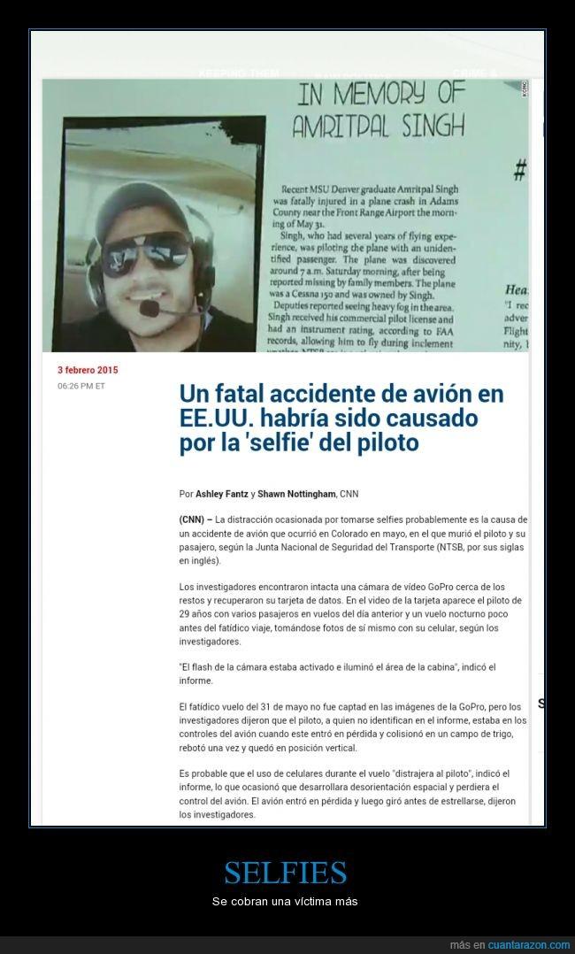 autofoto,avión,foto,muerte,selfie,tonto,victima