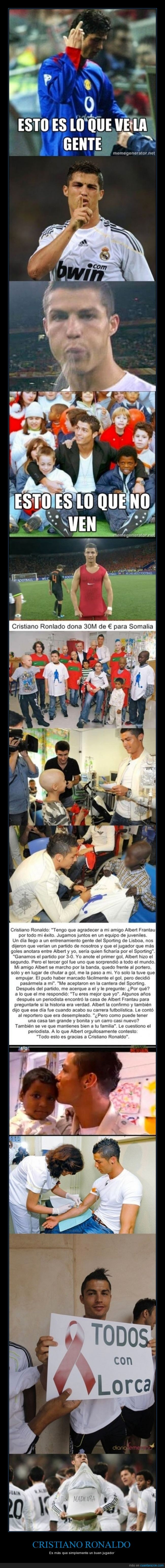 CR7,Cristiano Ronaldo,dinero,donar,Fútbol,Mejor del Mundo,Ronaldo,solidaridad,solidario