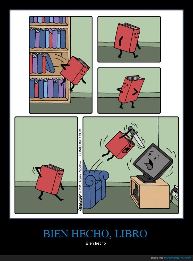 cuchillo,libro,matar,paliza,pegar,television,venganza