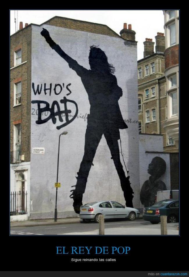arte,bad,baile,barda,edificio,graffiti,Michael Jackson,pared,pop,silueta,sombra