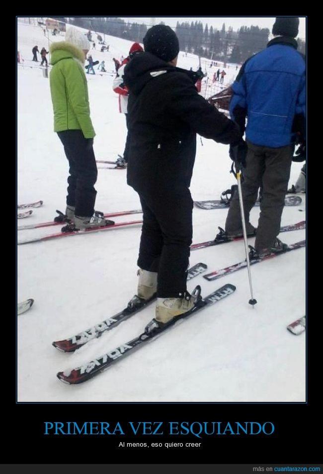 esquí,hielo,neófito,nieve,nuevo,principiante,volteados