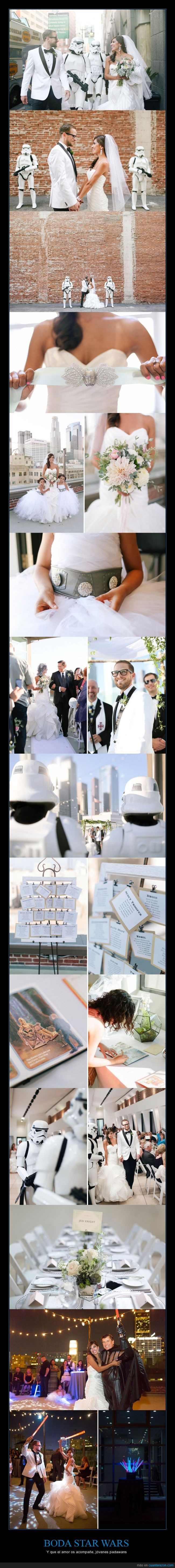 boda,Darth Vader,disfraz,enlace,lable laser,matrimonio,novia,novio,padre,Star Wars,storm trooper